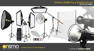 pro studio setup package onsmo at400w x 6 lights kit portable backdrop system