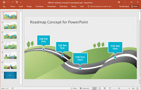 road map powerpoint template free journey ppt template free download mvap us