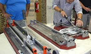 cutting tile demonstrating how to cut glass tile and wood plank tile with tools cutting tile cutting tile