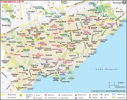 Canadian City Distance Chart Toronto Map City Map Of Toronto Canada