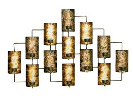metal wall decor in aged gold image
