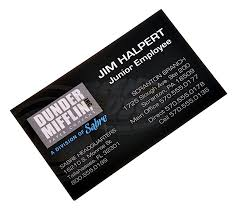 business card office office the tv jim halperts over sized business card
