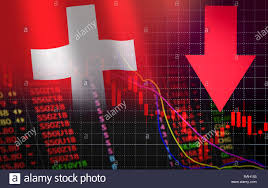 Stock Chart Bac Six Swiss Exchange Market Stock Crisis Red Market Price Down