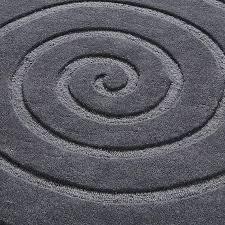 gray circle rug spiral round rug grey grey circular rug