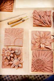 clay tile design ideas. Unique Clay Mudworks Pottery New Wall Plaques  Flowers Flowers Great Idea  Using Carving And Applique Techiniques To Created 3D Nature Inspired Tiles And Clay Tile Design Ideas I