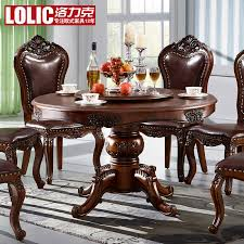 get ations los lectra chinese solid wood dining table dinette combination of european round table dining table dark