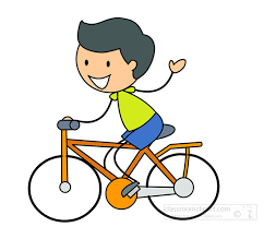 Bicycle Clipart - stick-figure-boy-cycling - Classroom Clipart