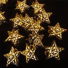 solar powered star string lights