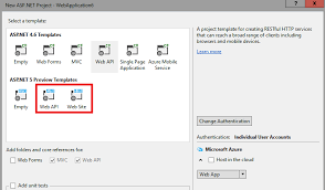 How to Create MVC 6 project from Visual studio 2015