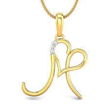 M Love Diamond Pendant