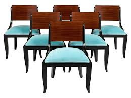 Furniture: Art Deco Dining Chairs Elegant Art Deco Period Dining Chairs Set  Six Jean Marc