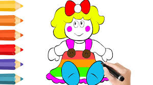 Small Picture Coloring Pages Baby Doll Drawing for children How to color by