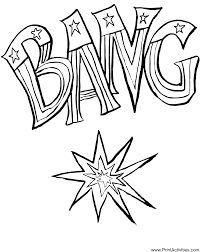 Small Picture Firecracker Coloring Page The Word Bang in Flag Stars and Stripes