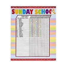 Sunday School Attendance Chart Free Printable Amazon Com Fun Express Sunday School Attendance Sticker