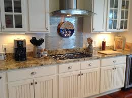 Diy Tile Kitchen Backsplash Diy Kitchen Beadboard Backsplash Ideas With Granite Countertop