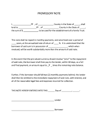 Legal Promissory Note Sample 24 FREE Promissory Note Templates Forms [Word PDF] Template Lab 1