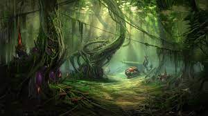 🥇 Nature jungle forests planets fantasy ...