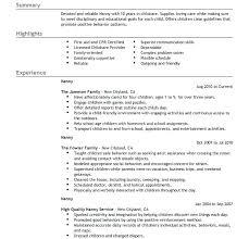 Resumes For Babysitters Resume Objective Ideas Babysitter Skills Job And Babysitting Sample