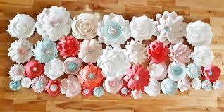 Paper Flower Archway Paper Flower Archway Flower Wall Baby Nursery Decor Set Of 42