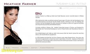 makeup artist bio template exle templates expert concept also