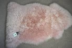 pale pink rugs uk roselawnlutheran pink sheepskin rug uk