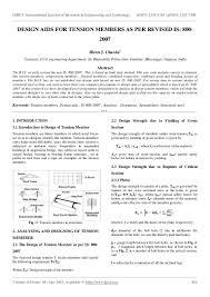 Design Of Steel Beams As Per Is 800 2007 Design Aids For Tension Members As Per Revised Is 800 2007