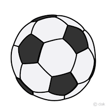 シンプルなサッカーボールの無料イラスト素材イラストイメージ
