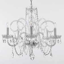 gallery venetian style all crystal 5 light chandelier free today 15661453