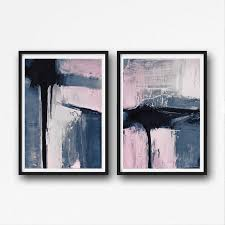 set of 2 prints abstract art prints large wall art printable abstract art on abstract wall art set of 2 with set of 2 prints abstract art prints large wall by semelart on zibbet