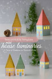 christmas house template printable mini house luminaries remodelaholic bloglovin