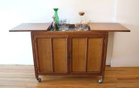 hidden bar furniture. Mid Century Modern Bar Serving Cart With Hidden Center Section | Picked Vintage Furniture S