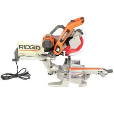 ridgid miter saw table. ridgid 10 in. sliding compound miter saw with dual laser guide-ms255sr - the home depot ridgid table i