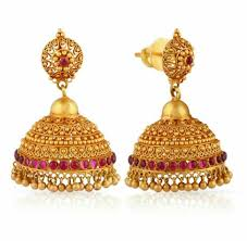 Diamond Earrings Traditional Designs Jumka Traditional Design Gold Jewellery Design Necklaces