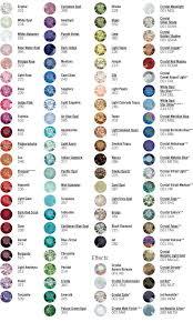 Swarovski Crystal Color Chart Actual Rhinestones Swarovski Rhinestone Color Chart Crystal Beads Crystals