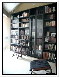decoration bookshelves glass doors bookcase light brown top idea ideas of antique with billy black