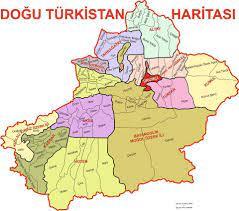 Doğu Türkistan haritası   Doğu Türkistan Maarif ve Dayanışma Derneği    Turkish people, Memes, Learning