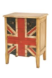 Union Jack Mahogany Bedside Table This bedside table bursting with British  charm is made from wood