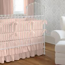 solid peach crib bedding