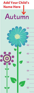 Buy Personalized Childs Picture Growth Chart For Girls