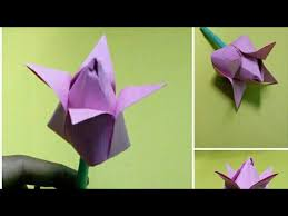 How To Make A Lotus Flower Out Of Paper How To Make Lotus Flower Paper Craft Work Origami