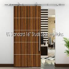 sliding door hardware. Modern Stainless Steel 304 Sliding Wood Barn Door Hardware 78.7\u2033, Satin Finish \u2013 New Storage I