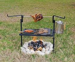 outdoor camping. Simple Outdoor Texsport Heavy Duty Adjustable Outdoor Camping Rotisserie Grill And Spit  No Tools Needed  Refresh With T