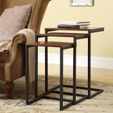 nesting end tables. Carolina Cottage Addison Chestnut 3-Piece Nesting End Table Tables The Home Depot