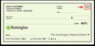 How To Read A Check Read Numbers On A Check Huntington Bank