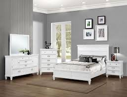 white queen bedroom sets. Crown Mark B9100-Q-Set Hannah 4 Pieces White Queen Bedroom Set Sets