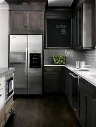 Kitchen Black Cabinets White Countertops Light Oak Kitchen Cabinet