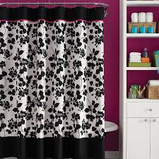 black white and red shower curtain home decor mrsilva us