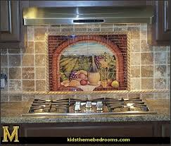 Mural Tiles For Kitchen Decor Decorating theme bedrooms Maries Manor Tuscany Vineyard Style 19