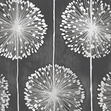 Small Picture Muriva Dandelion Floral Wallpaper Black Grey J04219