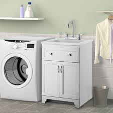 laundry room sink with cabinet